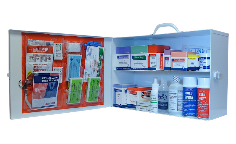 2 shelf industrial first aid cabinet