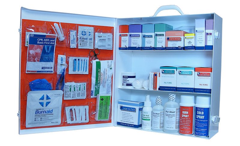3 shelf industrial first aid cabinet