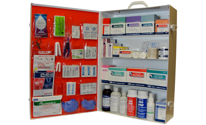 4 shelf industrial first aid cabinet